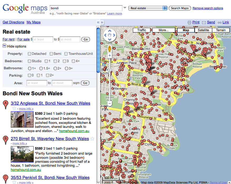 Google Real Estate Mapping