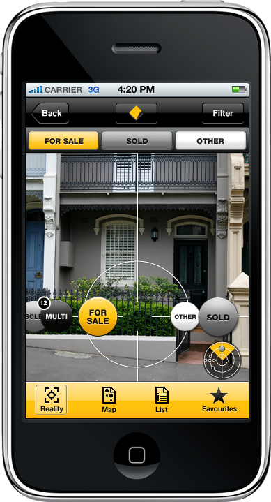 Cba combine data into iphone augmented for Buy house app