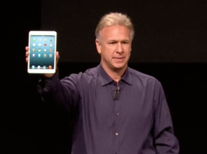 Philip Schiller of Apple introducing the iPad mini in 2012. Because of devices like this, more of your marketing takes place in mobile apps.